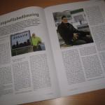 De två första sidorna av totalt sex sidor i Tarkett personaltidning Flooring