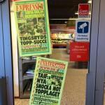 Kronan på verket var att jag idag toppar både Kvällspostens och Expressens löpsedlar i Småland med mian bilder från igår