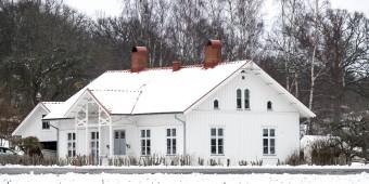 Villa Viken i vinterskrud