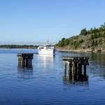 M/S Tjärö på väg in till Järnaviks hamn