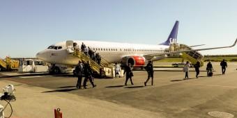 Dags för återresa från Umeå, 16 timmar efter det att vi landade på samma flygplats